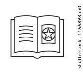 magic witch book  halloween... | Shutterstock .eps vector #1166898550