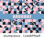 seamless geometric pattern set. ... | Shutterstock .eps vector #1166899669