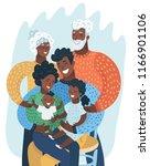 multi generation black family....   Shutterstock .eps vector #1166901106