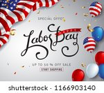 labor day sale promotion... | Shutterstock .eps vector #1166903140