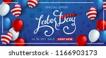 labor day sale promotion... | Shutterstock .eps vector #1166903173