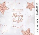 elegant merry christmas card... | Shutterstock .eps vector #1166903896