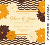 wedding card or invitation with ... | Shutterstock .eps vector #116690650