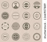 premium quality and vintage... | Shutterstock . vector #1166907889