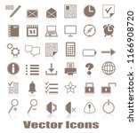 organizer and computer icons.... | Shutterstock . vector #1166908720