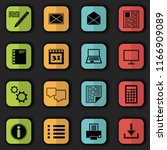 computer and organizer icons.... | Shutterstock . vector #1166909089