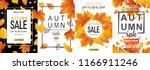 set of autumn sale flyer... | Shutterstock .eps vector #1166911246