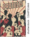 protest and resistance... | Shutterstock .eps vector #1166911666