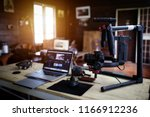vlogger equipment for filming a ... | Shutterstock . vector #1166912236