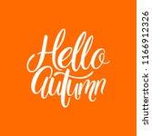 hello  autumn. autumn round... | Shutterstock .eps vector #1166912326