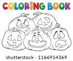 coloring book halloween...   Shutterstock .eps vector #1166914369