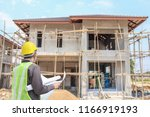 professional engineer architect ... | Shutterstock . vector #1166919193