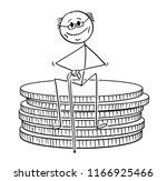 cartoon stick drawing... | Shutterstock .eps vector #1166925466