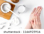 organic cosmetics with coconut... | Shutterstock . vector #1166925916