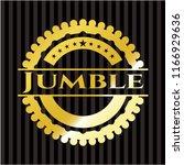 jumble gold shiny badge   Shutterstock .eps vector #1166929636