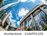 brussels  belgium   may 20 ... | Shutterstock . vector #1166931103
