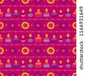 diwali seamless pattern with... | Shutterstock .eps vector #1166931649
