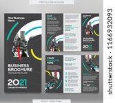 business brochure template in... | Shutterstock .eps vector #1166932093