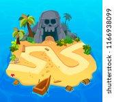 treasure level map for game.... | Shutterstock .eps vector #1166938099
