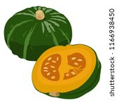 japanese squash is in season ...   Shutterstock .eps vector #1166938450