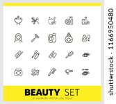 beauty icons. set of line icons.... | Shutterstock .eps vector #1166950480