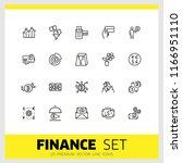 finance icons. set of  line... | Shutterstock .eps vector #1166951110