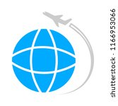 world travel icon   flat vector ... | Shutterstock .eps vector #1166953066