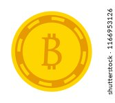 bit coin icon  vector currency... | Shutterstock .eps vector #1166953126