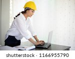 asian women engineering... | Shutterstock . vector #1166955790
