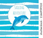 marine adventure  sea travel ... | Shutterstock .eps vector #1166959510