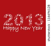 2013 new year postcard | Shutterstock .eps vector #116696128