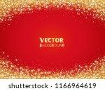 sparkling glitter border  frame.... | Shutterstock .eps vector #1166964619