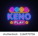 keno lottery neon sign vector.... | Shutterstock .eps vector #1166970706