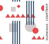 bauhaus pattern for wallpapers... | Shutterstock .eps vector #1166978419