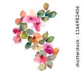 Watercolor Flowers. Wedding...
