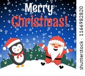 christmas santa claus and... | Shutterstock .eps vector #1166982820