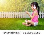 asian little chinese girl... | Shutterstock . vector #1166986159