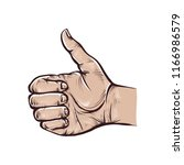 like hand sign. vector colorful ... | Shutterstock .eps vector #1166986579