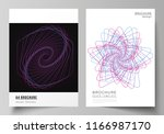 vector layout of a4 format... | Shutterstock .eps vector #1166987170