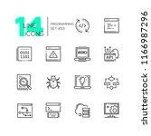 programming   modern thin line... | Shutterstock .eps vector #1166987296