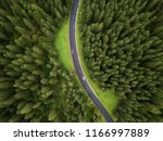 aerial view of road and  cars... | Shutterstock . vector #1166997889