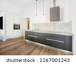 modern kitchen interior with... | Shutterstock . vector #1167001243