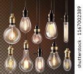light bulb vector lightbulb... | Shutterstock .eps vector #1167002389