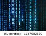 computer data matrix. vertical... | Shutterstock . vector #1167002830