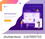a team of web developers... | Shutterstock .eps vector #1167005710