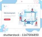 web banner design template.... | Shutterstock .eps vector #1167006850