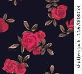 seamless pattern with flowers... | Shutterstock .eps vector #1167008053