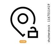 location vector icon in line...