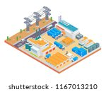 modern isometric big industrial ... | Shutterstock .eps vector #1167013210