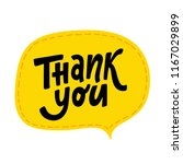 thank you. hand lettering word. ... | Shutterstock .eps vector #1167029899